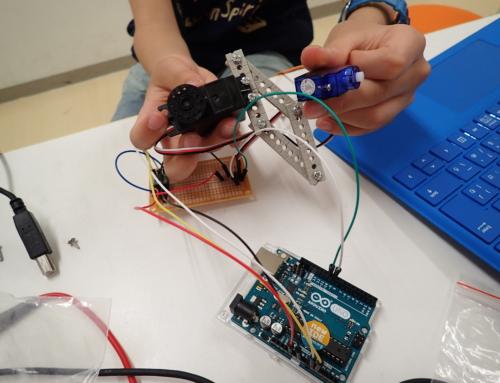 【ロボット教室日誌】大阪校Engineerコース5月「加速度センサーを組み込み、同期ロボットをつくろう!」