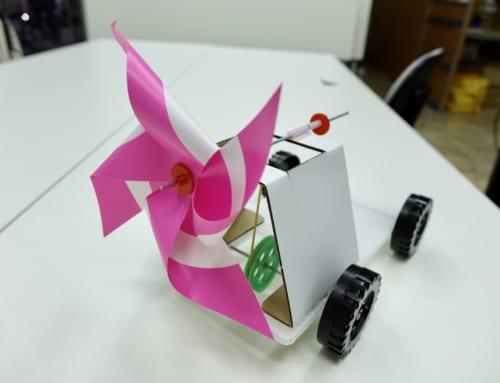 【ロボット教室日誌】那覇校 ベーシックコース−2018年1月 「プロペラを使ってウインドカーとヘリコプターを作ろう!」