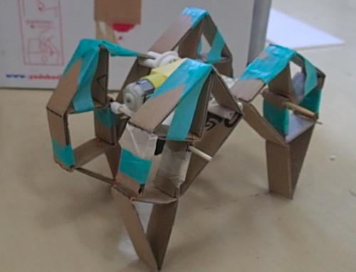 【ロボット教室日誌】飯田橋校Advancedコース「リンク機構で、4足歩行ロボットを作ろう!」