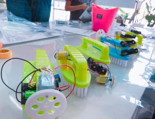 【ロボット教室日誌】那覇校Mechatronicsコース「振動モーター」