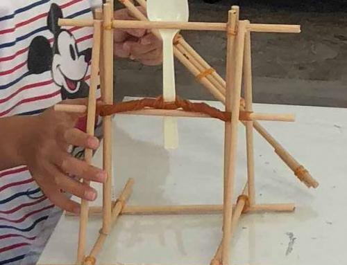 【ロボット教室日誌】那覇校 Material&Processコース「ゴム・カタパルト」